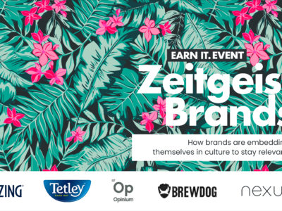 EARN IT. EVENT: Zeitgeist Brands